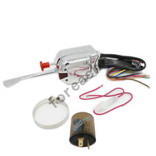 Chrome 12V Universal Street Hot Rod Turn Signal Switch For FORD BUICK GM Flasher