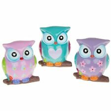Pastel Coloured Owl Bank, Owl Shaped Money Bank in a choice of 3 Designs