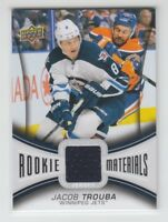 (67648) 2013-14 UPPER DECK SERIES 2 ROOKIE MATERIALS JERSEY JACOB TROUBA #RM-JT