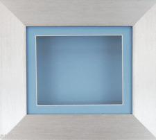 NEUF PETIT argent Boîte mémoire image cadre d'affichage 3D 2D objets Bleu
