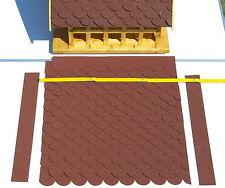 Bitumen - Dachschindel - Schindeln rot für Vogelhaus = Bausatz III aus 22 Teilen