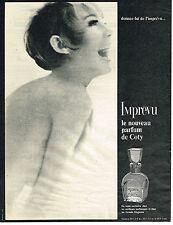 PUBLICITE ADVERTISING 044   1965   COTY  parfum IMPREVU