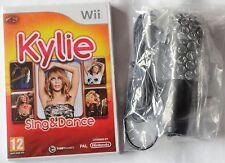 KYLIE SING & DANCE Wii KARAOKE SINGING GAME + MICROPHONE brand new & sealed UK !