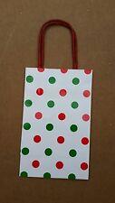 Lot of 48 Spritz Gift Bags Red Green Polka Dot Holiday Christmas (PA)