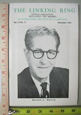 Linking Ring Vol 43 #11 November 1963 Digest Size Magic Magazine Harold L Martin