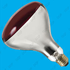 4x 250W Infra Red Heat Bulb Ruby Red ES E27 Lamp, Muscular Healthcare Rheumatism