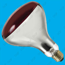 250W Infra Red Heat Bulb Ruby Colour Light ES E27 Lamp Healthcare Animal Health