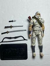 "2007 Gi Joe 25th 3.75"" Storm Shadow v22 Cobra Ninja Figure Complete Hasbro"