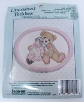 Vintage Cherished Teddies Counted Cross Stitch Kit We Wish You A Merry Christmas