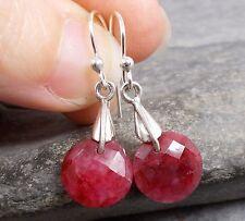 Argento 925 orecchini rubino taglio e623 ~ silverwave * UK Jewellery