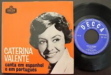 CATERINA VALENTE EP MADE IN PORTUGAL 45 PS 7 * SING IN PORTUGUESE & SPANISH *