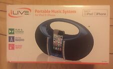 iLIVE PORTABLE MUSIC SYSTEM FOR IPOD AND IPHONE  IBP182BU