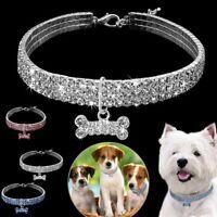 Rhinestone Correa Para El Cuello De Gato Perro Collar Del Animal Doméstico