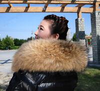 Winter Real Raccoon Fur Collar Scarf Accessories Hood Trimming scarf collar