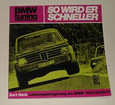 """Tuning -Anleitung BMW 1600 / 2002 / TI  Alpina Schnitzer """"So wird er schneller"""""""