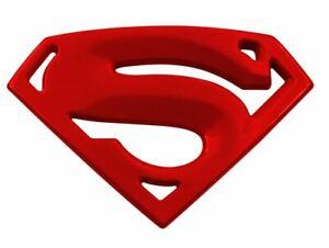 3D Quality Metal Superman Auto logo Emblem Chrome Car Motorcycle Badge - RED