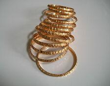 LOT 12PC GOLD FINISH WOMEN'S  BANGLE BRACELET BEAUTIFUL DESIGN SET SIZE # 7