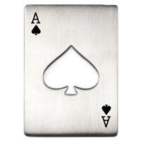Portable Poker Card Design Bottle Opener (Silver) Z8B9