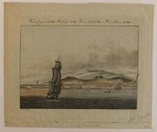 Le Mont Teide volcan Tenerife Canaries Santa Cruz navires gravure c.1800