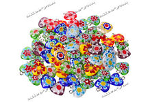 Wholesale Lots Jewelry 10pcs millefiori glass Heart Silver P Beads Pendants FREE