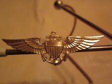 "WW2 U. S. NAVAL AVIATOR, MARINE CORPS, and COAST GUARD AVIATION BADGE ""LOOK"""
