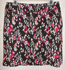 NEW  WOMENS Christopher & Banks FLORAL PRINT LINEN BLEND SKORT  SIZE 16