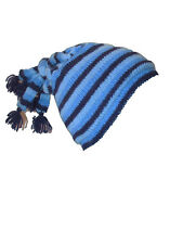 Fairtrade 100% Wool Knit Beanie Winter String Hippy Hat Funny Stripey Colourful