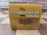 Brooklin Collection Models 1:43 1959 CHRYSLER 300 E CONVERTIBLE RED BRK.41a NEW