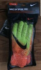 NIKE SPYNE GK GLOVE Soccer Goalie Glove (Orange/Yellow)GS0346 size 6,7,8,9,10,11