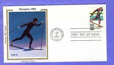 """1984 Sc #2069 20c Winter Olympics - Nordic Sking Colorano """"Silk"""" FDC"""