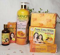 NANO MAGIC POTION WHITENING LOTION 500g + NANO EXTRA WHITE SOAP 160g + SERUM 50g