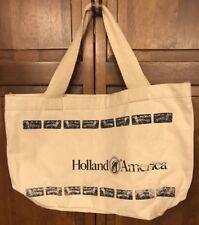 Holland America Cruise Line Cotton Canvas Shopping Tote Beach Bag