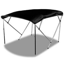 pontoon 91-96 INCH BLACK BOAT BIMINI SHADE CANOPY TOP COVER BIKINI 4 BOW BOOT 8'