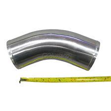 "Universal 4"" OD Aluminum Turbo Intercooler Intake Pipe 45 Degree 10"" Long"