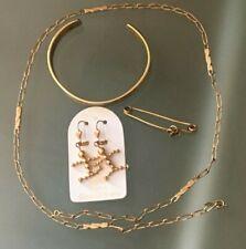 Lot de bijoux plaqué or