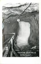 Black Hills South Dakota~Inside Thunder Head Falls~Wooden Walk~1962 RPPC