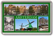 FRIDGE MAGNET - AMSTERDAM - Large - Netherlands TOURIST