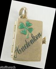 Charm Locket vintage 10K Gold Andenken Germany Memory Photo Book
