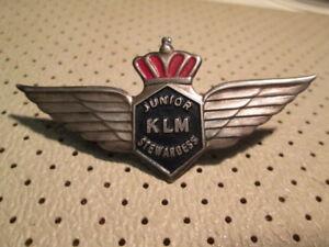 KLM Royal Dutch Airlines Holland Junior Stewardess Wings badge