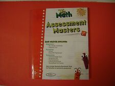Teacher's Edition My Math Assessment Masters With Answer Keys Grade 1