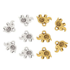 20pcs Silver/Gold Tone 3D Om Yoga Elephant Charms Pendants Beads