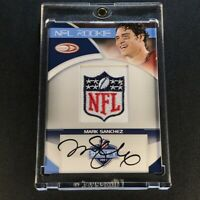 MARK SANCHEZ 2009 PANINI DRAFT NFL SHIELD LOGO PATCH AUTOGRAPH AUTO ROOKIE RC