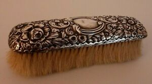 Gorham Antique Sterling Silver Repousse Clothing Brush #607A