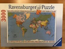 1999 Ravensburger POLITICAL WORLD MAP 3000 pc Jigsaw Puzzle