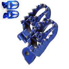 Blue CNC Studed Footrest Foot Peg Pedal for Yamaha WR YZ YZF 450 250 125 85 250F