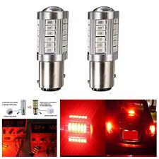 2Pc DC12V Red 1157 1142 5630Chip Car Truck Tail Stop Brake Light 33-SMD LED Bulb