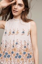 Anthropologie Embroidered Flora Blouse By Harlyn NWT Medium Retail $78