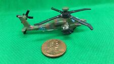 """Military Micro Machines Ah-64 Ah64 Apache Longbow Attack Helicopter Green Cam """"A"""