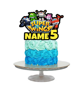 SUPER WINGS INSPIRED PERSONALISED BIRTHDAY CAKE TOPPER ANY NAME AGE