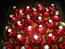 Wedding Ferrero Rocher Red x4 cases of 24pieces & 50 Chocolate Heart Lollies